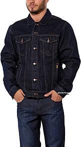 Джинсова куртка з невипраної деніму Montana 12062