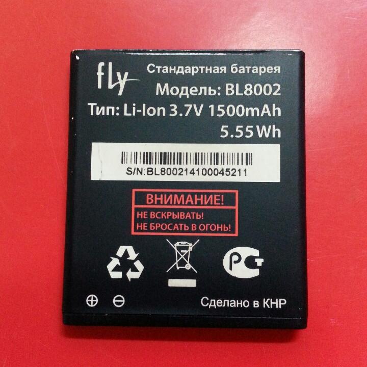 Bl8002 аккумулятор fly iq4490i батарея б/у