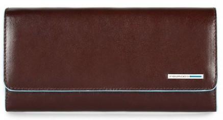Чудовий гаманець Piquadro шкіряний зі знімним відділом на блискавці (19,5x10x3,5) PD3889B2_MO коричневий