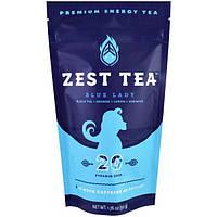 Zest Tea LLZ, Энергетический чай высшего сорта, голубая леди, 20 пирамидок, 1.76 унции (50 г)