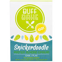 Buff Bake, Протеиновый Спред с Миндальным Печеньем Сникердудль, 10 Мягких Пакетов, по 1,15 унций (32 г) каждый