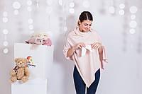 Накидка для грудного кормления малыша Розовая
