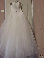 Пышное свадебное платье со стразами №15 (р.44)
