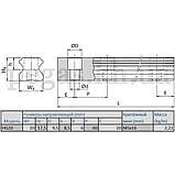 Лінійна направляюча, рейки HIWIN HGR20, фото 2
