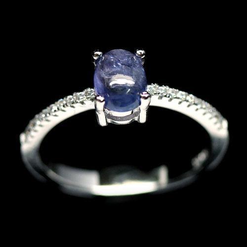 Танзанит, серебро 925, кольцо, 622КТ