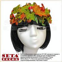 """Венок для волос """"Осень"""" на лентах"""