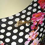 Платье трикотажное сакура  в горох пл 008-1 черкассы вискоза хлопок , фото 10