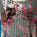 Платье трикотажное сакура  в горох пл 008-1 черкассы вискоза хлопок , фото 8