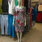 Платье трикотажное сакура  в горох пл 008-1 черкассы вискоза хлопок , фото 6