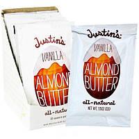Justins Nut Butter, Ванильное миндальное масло, 10 пакетов, 32 г (1,15 унций) каждый
