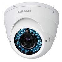 Цветная наружная антивандальная купольная камера QIHAN QH-406C-5