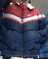 Куртка мужская с капюшоном Nike на овчине зима