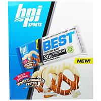 BPI Sports, Best Protein Bars, White Chocolate Pretzel, 12 Bars, 2.43 oz (69 g) Each