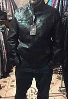 Мужская куртка повседневная демисезонная эко кожа 46-54рр