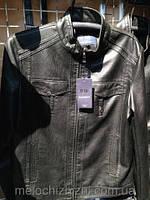 Мужская куртка демисезонная Эко кожа черная 46-54рр.