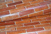 Обои, на стену, влагостойкие,бумажные, 86-05, кирпич красный, 0,53*10м