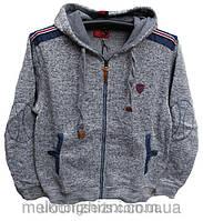 Куртка флисовая мужская на молнии серая 48-56р