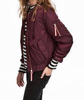 Женская куртка бомбер H&M бордо в наличии  XS S M