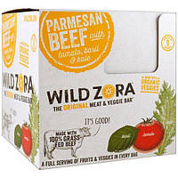 Wild Zora Foods LLC, Parmesan Beef with Tomato, Basil & Kale, Veggie and Meat Bars, 10 Packs, 1.0 oz (28 g)