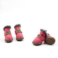 Обувь для животных UGGS DOG Мех, малиновый