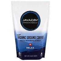 Javazen, Кофе без кофеина, органический молотый кофе с ройбуш и годжи, релакс, 255 г (9 унций)