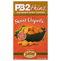 Bell Plantation, PB2 Thins, сладкие халапено, 7 унций (198 г)