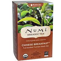 Numi Tea, Органический, Китайский завтрак, черный чай, 18 чайных пакетиков, 1,27 унции (36 г)