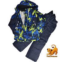 Детский лыжный костюм, куртка и комбинезон, для мальчика ростом 116-140 см