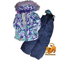 Детский лыжный костюм, куртка и комбинезон, для девочки ростом 98-116 см