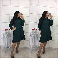 Качественное женское платье с воланами большого размера