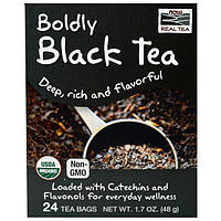 Now Foods, Настоящий чай, Органический Ярко-черный чай, 24 пакетиков, 1,7 унции (48 г)
