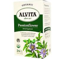 Alvita Teas, Органический чай со страстоцветом, без кофеина, 24 пакетиков, 1,13 унции (32 г)
