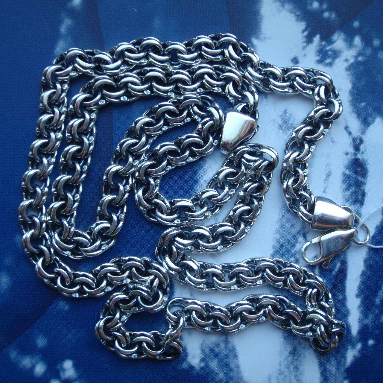 Серебряная цепочка, 600мм, 28 грамм, плетение Бисмарк