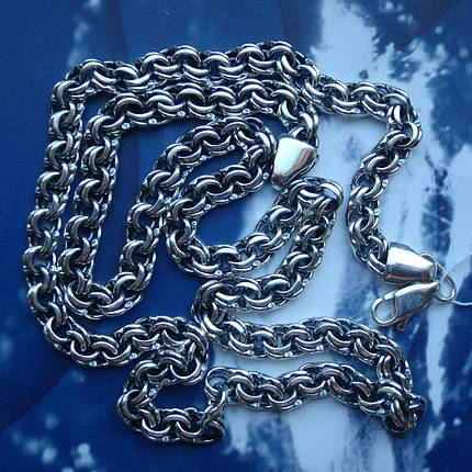 Серебряная цепочка, 600мм, 28 грамм, плетение Бисмарк, фото 2