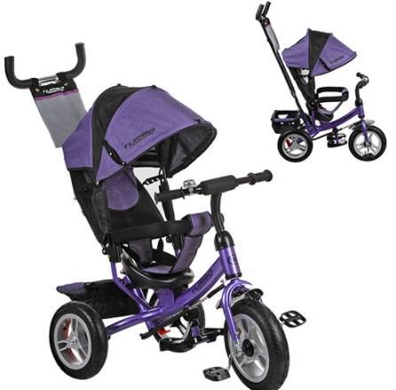 Детский трехколесный велосипед М 3113 - 8A Фиолетовый, надувные колеса (12/10)