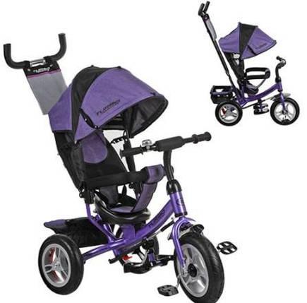Детский трехколесный велосипед М 3113 - 8A Фиолетовый, надувные колеса (12/10), фото 2
