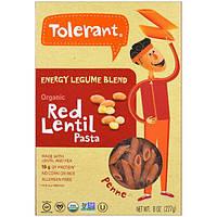 Tolerant, Organic, Energy Legume Blend, Red Lentil Pasta, Penne, 8 oz (227 g)