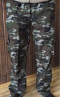 Мужские камуфляжные штаны зима 48-56рр. непромокаемая ткань