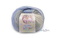 Турецкая пряжа Alize Baby Wool полушерсть  №4692