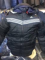 Мужская куртка стеганая Adidass (адидас) низ резинка 48-54 рр.