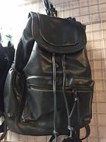 Рюкзак женский городской из эко кожи черный