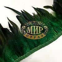 Тесьма перьевая (Петух), цвет Emerald, цена за 0.5м