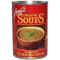 Amys, Супы, Индийский суп Дал с карри и чечевицей , 14.5 унций (411 г)