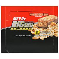MET-Rx, Big 100, Батончик Вместо Еды, Хрустящая Карамель с Арахисовым Маслом, 9 батончиков, по 3,52 унции (100 г) каждый