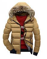 Куртка мужская с мехом бежевая