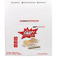 OOH Snap!, Хрустящие белковые батончики со вкусом ванили и маршмэллоу, 7 батончиков по 1,6 унции (44 г)