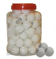 Шарики для настольного тенниса в PP банке (60шт) CHAMPION MT-2708 (пластик, d-40мм, белые,оранжевые)