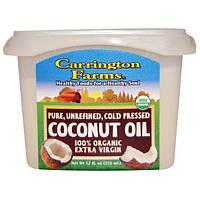 Carrington Farms, Кокосовое масло, 100% органическое масло Extra Virgin, 355 мл (12 жидких унций)