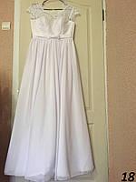 Свадебное платье с кружевом №18 (р.42-60)