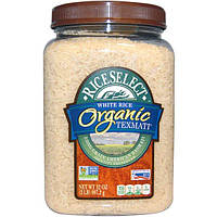 Rice Select, Органический белый рис тексмати, длиннозерный американский басмати, 32 унции (907,2 г)